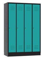 00141832 Szafa ubraniowa 4 segmenty, 4 drzwi (wymiary: 1800x1190x480 mm)