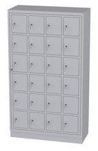 00150518 Szafa skrytkowa z drzwiami centralnymi, 4 segmenty, 24 skrytek (wymiary: 1950x1120x480 mm)
