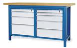 00853641 Stół warsztatowy, 9 szuflad (wymiary: 1500x900x740 mm)