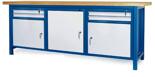00853661 Stół warsztatowy, 3 drzwi 4 szuflady (wymiary: 2100x900x740 mm)