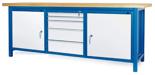 00853665 Stół warsztatowy, 2 drzwi 5 szuflad (wymiary: 2100x900x740 mm)
