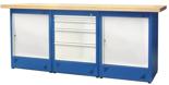 00853704 Stół warsztatowy, 2 drzwi, 4 szuflady (wymiary: 2100x900x740 mm)