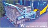 02938355 Wywrotnica skrzyniopalet do wózka, wersja: malowana (udźwig: 450 kg)
