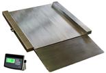 04049003 Waga najazdowa ze stali szlachetnej z legalizacją (nośność: 1500 kg, podziałka: 500 g, wymiary: 1000x1000x45 mm)