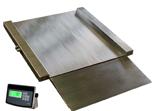 04060434 Waga najazdowa ze stali szlachetnej z legalizacją (nośność: 600kg, podziałka: 200g, wymiary: 1250x1250x45mm)