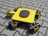 12258870 Wózek rotacyjny z płytą obrotową, rolki: 12x nylon (nośność: 4 T)