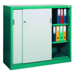 99551710 Szafa biurowa 1,0mm, 2 drzwi, 2 półki (wymiary: 1040x1000x435 mm)
