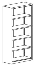 99551721 Regał zamknięty, 4 półki (wymiary: 1990x1000x435 mm)