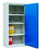 99551735 Szafa aktowa wzmocniona o podwyższonej odporności ogniowej, 1 drzwi , 3 półki (wymiary: 1500x700x550 mm)