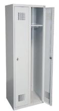 99551943 Szafka ubraniowa 0,5mm, 2 drzwi, zamek cylindryczny zamykany w 1 punkcie (wymiary: 1800x800x500 mm)