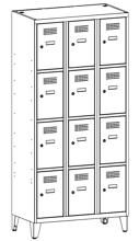 99552083 Szafka ze schowkami 0,8mm na nóżkach, 12 drzwi (wymiary: 1940x900x500 mm)