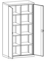 99552485 Szafa warsztatowa, 8 półek (wymiary: 1950x1000x540 mm)