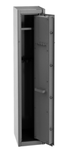 99552652 Szafa do przechowywania broni, 1 drzwi, 1 półka, przystosowana na 5 szt. broni długiej (wymiary: 400x450x1500 mm)