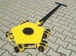 DOSTAWA GRATIS! 12258868 Wózek rotacyjny z płytą obrotową, rolki: 3x nylon (nośność: 2 T)