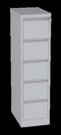 00150473 Szafa kartotekowa na teczki A5 pionowe, 2 rzędy, 5 szuflad (wymiary: 1570x415x630 mm)