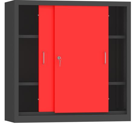 00150814 Szafa przesuwna niska, 2 półki (wymiary: 1000x1000x500 mm)