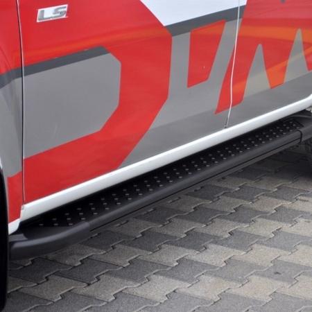 01656141 Stopnie boczne, czarne - Mercedes ML W163 1997-2005 (długość: 182 cm)