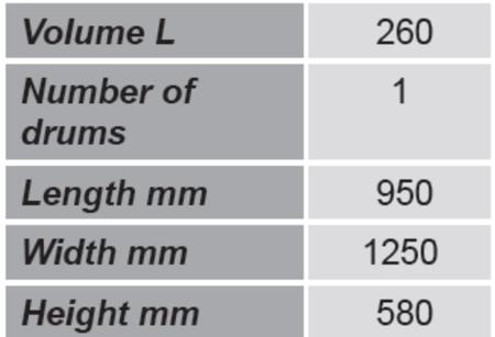 99724722 Paleta do beczek GermanTech (ilość beczek: 2, wymiary: 950x1250x580 mm)