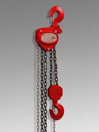 DOSTAWA GRATIS! 62666903 Wciągnik łańcuchowy ręczny (udźwig: 5000 kg, wysokość podnoszenia: 3m)