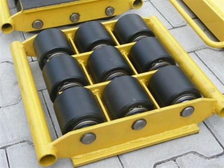 DOSTAWA GRATIS! 12235597 Wózek stały 9 rolkowy, rolki: 9x kompozyt (nośność: 18 T)