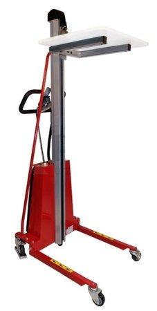 DOSTAWA GRATIS! 0301628 Wózek podnośnikowy elektryczny platformowy (udźwig: 150 kg, wymiary platformy: 470x600 mm, wysokość podnoszenia min/max: 130-1500 mm)