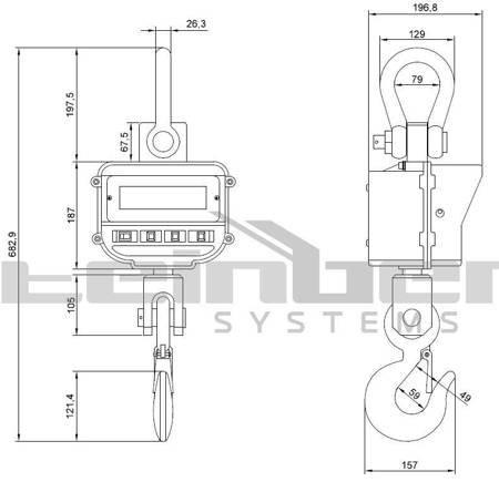 DOSTAWA GRATIS! 45643488 Waga hakowa Steinberg Systems LED (udźwig: 5T)