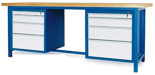 00853657 Stół warsztatowy, 8 szuflad (wymiary: 2100x900x740 mm)
