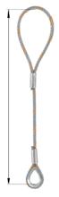 33948333 Zawiesie linowe jednocięgnowe zaciskane tulejkami cylindrycznymi miproSling Typu F1k (udźwig: 25 T, wymiary pętli: 760/380 mm, średnica liny: 48 mm, długość liny: 1 m)