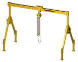 33959992 Wciągarka bramowa z wózkiem pchanym i wciągnikiem łańcuchowym miproCrane DELTA 100 (udźwig: 1500 kg, szerokość: 4257 mm, wysokość: 2022/3322 mm)