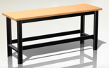 87853387 Stół warsztatowy podstawowy - blat pokryty gumą (wymiary: 1960x890x600 mm)