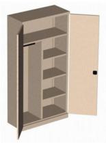 99551697 Szafa biurowa 1,0mm, 2 drzwi, 4 półki (wymiary: 1990x1000x435 mm)