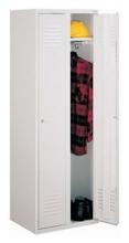 99552122 Szafka ubraniowa 0,6mm, zamek na kłódkę, 2 drzwi (wymiary: 1800x600x490 mm)