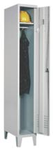 99552151 Szafka ubraniowa 0,8mm na nóżkach, zamek ryglujący drzwi w 3 punktach, 1 drzwi (wymiary: 1940x300x490 mm)
