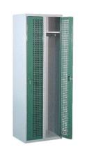 99552208 Szafka ubraniowa perforowana, zamek na kłódkę, 2 drzwi (wymiary: 1800x800x490 mm)