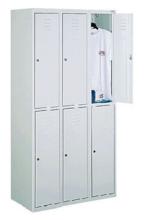 99552248 Szafka ze schowkami 0,6-0,8mm, 6 drzwi (wymiary: 1800x1200x490 mm)