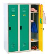 99552324 Szafka dla przedszkolaków, 3 drzwi, wersja lux (wymiary: 1350x900x500 mm)