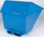 99724686 Pojemnik wychylny z pokrywą GermanTech TL 1300 (pojemność: 1030 L)
