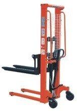 DOSTAWA GRATIS! 00543619 Wózek podnośnikowy ręczny z widłami regulowanymi oraz dodatkowa pompą nożną (udźwig: 1000 kg, min./max. wysokość wideł: 90/1600 mm)