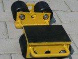 DOSTAWA GRATIS! 12235586 Wózek stały 2 rolkowy, rolki: 2x nylon (nośność: 2 T)