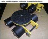 DOSTAWA GRATIS! 12267431 Wózek skrętny z otworem fi 21 w płycie nośnej, 6 rolkowy, rolki: 6x nylon (nośność: 6 T)