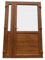 DOSTAWA GRATIS! 26269167 Drzwi zewnętrzne sklepowe (kolor: złoty dąb, strona: lewa, szerokość: 125 cm)