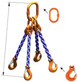 DOSTAWA GRATIS! 33948235 Zawiesie łańcuchowe czterocięgnowe klasy 10 miproSling HCS 40,0/28,0 (długość łańcucha: 1m, udźwig: 28-40 T, średnica łańcucha: 22 mm, wymiary ogniwa: 350x190 mm)