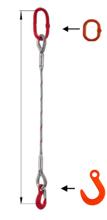 DOSTAWA GRATIS! 33948347 Zawiesie linowe jednocięgnowe miproSling FW 29,00 (długość liny: 1m, udźwig: 29 T, średnica liny: 52 mm, wymiary ogniwa: 340x180 mm)
