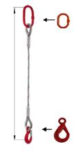 DOSTAWA GRATIS! 33948348 Zawiesie linowe jednocięgnowe miproSling LE 11,00 (długość liny: 1m, udźwig: 11 T, średnica liny: 32 mm, wymiary ogniwa: 230x130 mm)