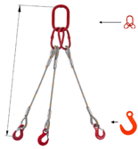 DOSTAWA GRATIS! 33948425 Zawiesie linowe trzycięgnowe miproSling FW 29,0/21,0 (długość liny: 1m, udźwig: 21-29 T, średnica liny: 36 mm, wymiary ogniwa: 340x180 mm)