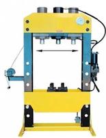 DOSTAWA GRATIS! 44358877 Prasa hydrauliczna, pneumatyka, ruchomy tłok, regulowany stół (siła nacisku: 75 T)