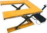 DOSTAWA GRATIS! 44366759 Elektryczny stół warsztatowy podnośny nożycowy w kształcie litery U (udźwig: 1000kg, wymiary platformy: 1450x985 mm, wysokość podnoszenia min/max: 85-860 mm)