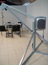 DOSTAWA GRATIS! 55547210 Wciągarka budowlana linowa elektryczna, obrotowa, w komplecie z podstawą (udźwig: 500 kg, długość liny: 60m)