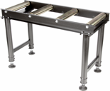 DOSTAWA GRATIS! 55872187 Stojak wsporczy z 4 wałkami (udźwig: 400 kg, długość stołu: 990mm, wysokość: 580-1030 mm)