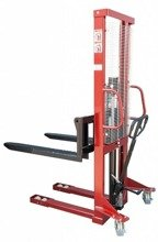DOSTAWA GRATIS! 62666862 Wózek masztowy ręczny, regulowane widły (udźwig: 1000kg, długość wideł: 1150mm, wysokość wideł min/max: 90/1600mm)